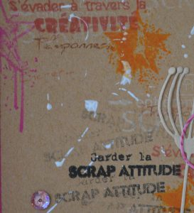Détail carte scrap attitude