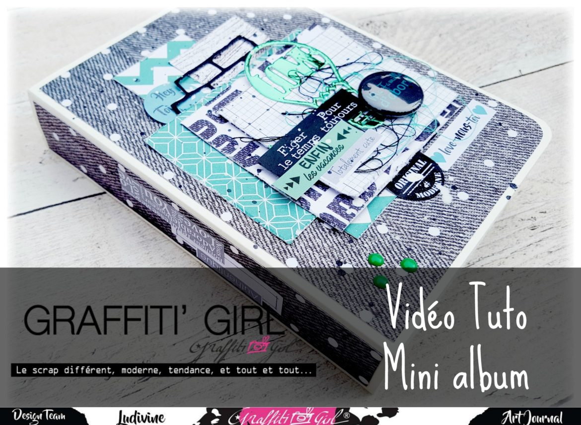 mini album, graffiti girl, tuto vidéo, urban scrap, géomavie, trash, tampons transparents, pochoir, dies