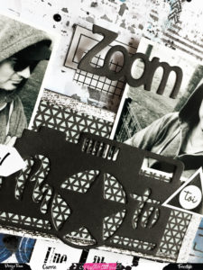 Page freestyle Graffiti Girl die photos zoom papier stickers
